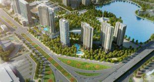 Hồ điều hòa Nhân Chính đối diện Vinata Towers hoàn thành trong năm 2017